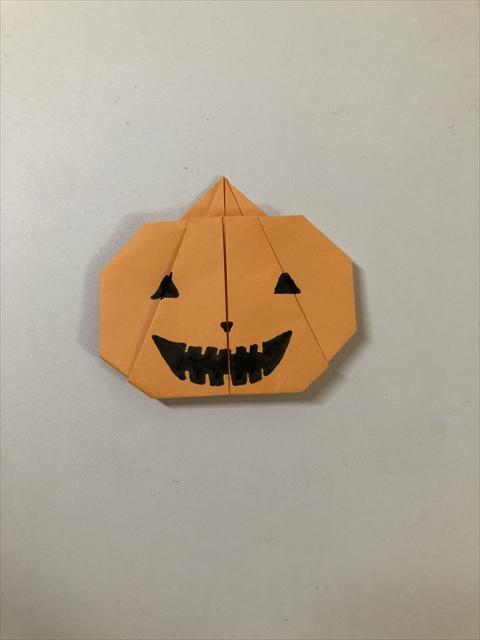 折り紙 ハロウィン かぼちゃ ハロウィンの立体かぼちゃを折り紙で作る簡単な折り方